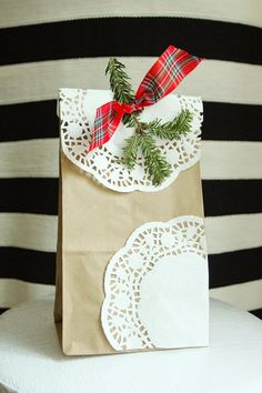 How to make cute custom gift bag from a brown paper bag