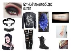 """""""Gothic/Punk/Scene/Emo Outfit"""" by peacelovebands ❤ liked on Polyvore featuring Demonia, emo, scene, Punk and gothic"""