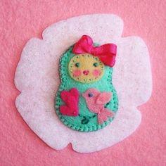 Felt Matryoshka Russian Doll   I have to make this now!!!!