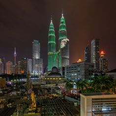 Petronas Twin Towers during Earth Hour 2014