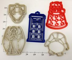 Dr Who Cookie Cutter Set by WarpZone on Etsy