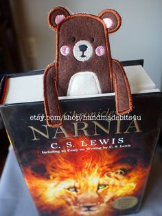 Bookmark  Animal  Bear Fox Mouse  Felt Book Mark by HandmadeBits4u