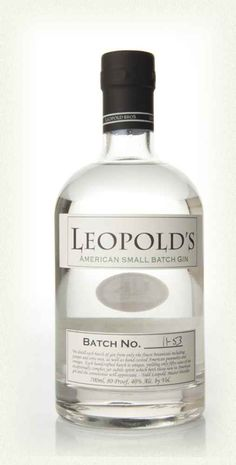 Leopold's Gin - £38.00 - only make 50 cases a year. I want one of those bottles
