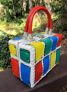 Rainbow Box Purse
