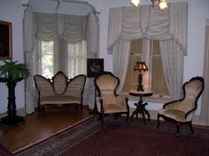 In the front parlor....they said it was never used because Mrs. Winchester almost never received guests.