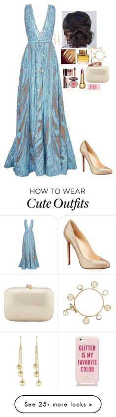 """""""Untitled #800"""" by broadwaybeauty24 on Polyvore featuring Elie Saab, Christian Louboutin, Burberry, Charlotte Tilbury, Christian Dior, Serpui, Tory Burch, Ippolita and Kate Spade"""