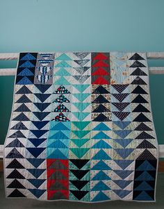 Hooray for Rain - Flying Geese Baby Quilt | Flickr - Photo Sharing!