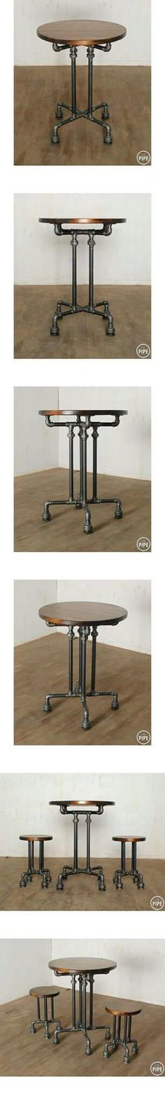 DIY table with black pipe from Gill-Roy's Hardware! - DIY table with black pipe from Gill-Roy's Hardware! DIY table with black pipe from Gill-Roy's Hardware!