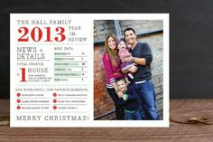 Christmas card and family newsletter combined infographic style. (Only picture, no link)