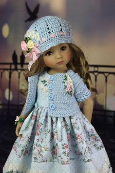 Crochet Doll Clothes, Knitted Dolls, Girl Doll Clothes, Doll Clothes Patterns, Pretty Dolls, Cute Dolls, Beautiful Dolls, Baby Barbie, Baby Dolls