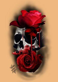 crânio e rosas / skull and roses