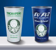 Arena do Palmeiras lança copos personalizados para a Copa do Brasil #globoesporte