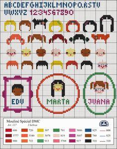El blog de Dmc: Diagrama árbol genealógico Cross Stitch Family, Dmc Cross Stitch, Cross Stitch Boards, Cross Stitch Needles, Cross Stitch Alphabet, Cross Stitch Baby, Cross Stitching, Diy Embroidery, Cross Stitch Embroidery