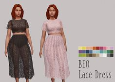 Beo Lace Mini Dress. • You will need their mesh for this dress to show up in your game. • Palette by An_nas. • Made using Sims4Studio and Photoshop CS6 TOU: Don't claim as your own, reupload and/or add Ad-Fly. Download (SFS)