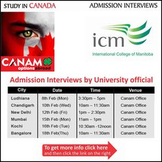 Study in #Canada - International College of Manitoba (icm). For More Information Visit Here: http://canamgroup.com/maileruniversity.php?name=icm-study  #Canam #CanamGroup #studyabroad #StudyVisa #StudentVisa
