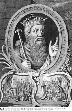 """MALCOLM III """"LONG NECK"""" King of Scotland 1040-1093 son of DUNCAN I King of Scotland and SYBILLIA FITZIWARD of Northumbria.  His wife was St Margaret Queen of England.  Malcolm and Margaret's sons Ducan II, Edgar, Alexander and David all became Kings of Scotland. Margaret and Malcom are my 33rd G GRANDPARENTS. Ancestor"""