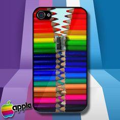 Color Pencils Zipper iPhone 4 or iPhone 4S Case