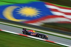 The Red Bull practicing at Malaysia 2012