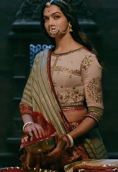 Deepika Padukone in Indian dress lehenga and choli Indian Attire, Indian Outfits, Indian Dresses, Indian Wear, Deepika Padukone, Shraddha Kapoor, Ranbir Kapoor, Priyanka Chopra, Bollywood