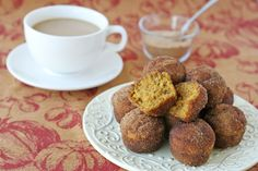 Pumpkin Spice Doughnut Muffins - I made these for breakfast this morning (10.14) and they were awesome! I left some without the topping and those were delish too just as is!
