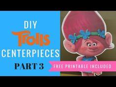 How to make your own Trolls Centerpieces | Princess Poppy, Branch, Bridget | Cakecrusadersblog.com