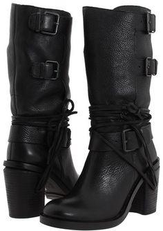 "Vince Camuto ""Skylas"" Black Leather  Boot"