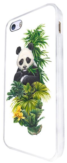 957 - Cool Cute Fun Panda Nature Wildlife Green Plants Flowers Kawaii Design For iphone SE - 2016 Fashion Trend CASE Back COVER Plastic&Thin Metal - White. 100 % Guarantee Delivery Between 5-12 Days. Touch design that moulds to your slim case design and does not feel bulky. very easy to fit and remove/Access to all your ports and camera. Many Different colours and design availble in our shop. iphone SE -2016.