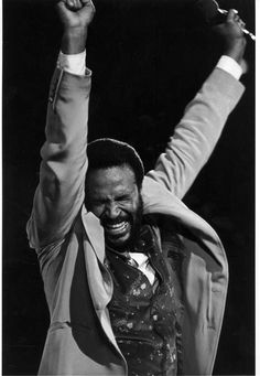 Make me wanna holler and throw up both my hands yea, it makes me ...Marvin Gaye, Inner City Blues