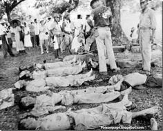 Japanese brutality: American POW killed by Japanese soldiers: Battle of Philippines 1941-42