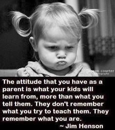 Are you constantly nagging around my children? Or are you praising and being positive? One of it teaches values