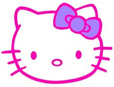 A pink Hello Kitty with a purple bow.   :B