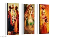 Paintings & Posters Attractive Trendy Wall Posters  Material: MDF  Size- (L X W ): 36 cm X 45 cm Description: It Has 3 Pieces Of Wall Poster Work: Printed Country of Origin: India Sizes Available: Free Size   Catalog Rating: ★4.1 (3962)  Catalog Name: Navratri Multicolor Attractive Trendy Wall Posters Vol 5 CatalogID_622663 C127-SC1611 Code: 981-4339487-792