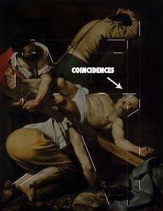 Картина Караваджо показывает, как он скрывает свои линии на основе понимания закону непрерывности.