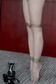 Matchless nylon pantyhose encasement bondage event
