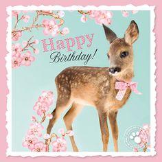 Happy Birthday with fawn Happy Birthday Pictures, Happy Birthday Messages, Happy Birthday Quotes, Happy Birthday Greetings, Birthday Greeting Cards, Friend Birthday, Birthday Fun, First Birthday Centerpieces, Birthday Blessings