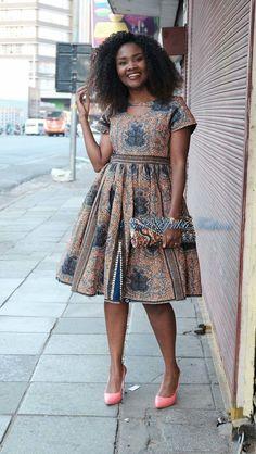 Beautiful intricate Ankara midi dress from Diyanu - Ankara Dresses, Shirts & Ankara Dress Styles, Latest African Fashion Dresses, African Dresses For Women, African Print Dresses, African Attire, Women's Fashion Dresses, African Dress Designs, Kente Styles, Ankara Tops