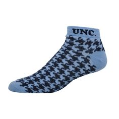 UNC Houndstooth Low Cut Socks (CB)