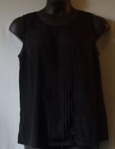 """Black Blouse With Overlay Design-Size XL/TG (Tall) by MERONA-Width 40""""/Length 28""""-100% Polyester-Back opening design"""