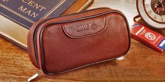 Good quality brown Pipe package,Leather Carrying Case,special tobacco bag,smoking pipe case. #Affiliate