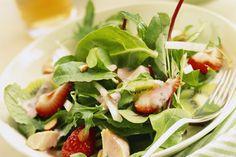 Light Strawberry and Chicken Salad