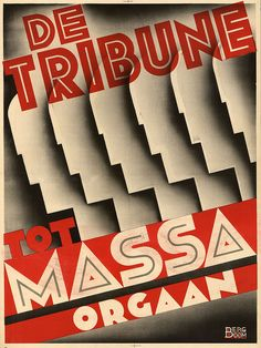 Futurism for the masses. Another De Tribune poster, by Cornelis Rose and Bergboom. Vintage Ads, Vintage Posters, Vintage Designs, Diesel Punk, Retro Graphic Design, Graphic Art, Vintage Graphic, Industrial Artwork, Propaganda Art