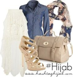 Cool Casual Hijab Outfit Hashtag Hijab Outfit #309...