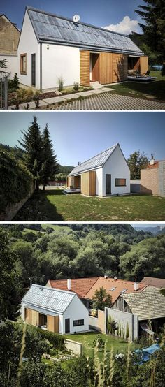 11 Small Modern House Designs From Around The World | Built to replace an old house that had to be torn down, this new home combined aspects of the traditional architecture of the city as well as modern details to create a small modern home that fits in with its neighbors but stands out on its own.