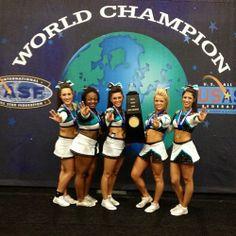 The Cheerleading Worlds Senior Elite! Worlds is tomorrow! Cheer Extreme, All Star Cheer, Champs, Cheerleading, Athlete, Passion, World, Cheer Stuff, Sports