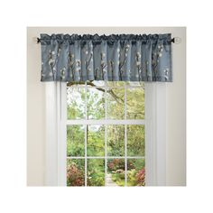 Lush Decor Cocoa Flower Window Valance - x Blue Burgundy Curtains, Valance Curtains, Window Valances, Flower Window, Kitchen Valances, Bathroom Windows, Curtain Rods, Window Treatments, Lush