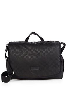 Gucci Nylon Guccissima Diaper Bag                          Great Bag for Dads  with Twins !