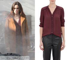ShopYourTv:Grimm: Season 4 Episode 11 Juliette Silverton's Contrast Piping Blouse - ShopYourTv
