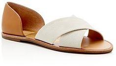 """Pin for Later: 65 flache Schuhe für die Braut, die Komfort bevorzugt  Dolce Vita """"Delila"""" Open Toe d'Orsay Schuhe (83 €)"""