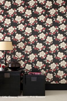 Little Greene ajaloolised tapeedid - Smartex Disain kardinasalongist Luxury Wallpaper, Home Wallpaper, Oriental Wallpaper, Little Greene, Wallpaper Online, Pink Blossom, Floral Design, Interior Design, Modern