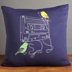 Brooklyn Industries® - Tape Snack Organic Cotton Pillow #organic #organiccotton